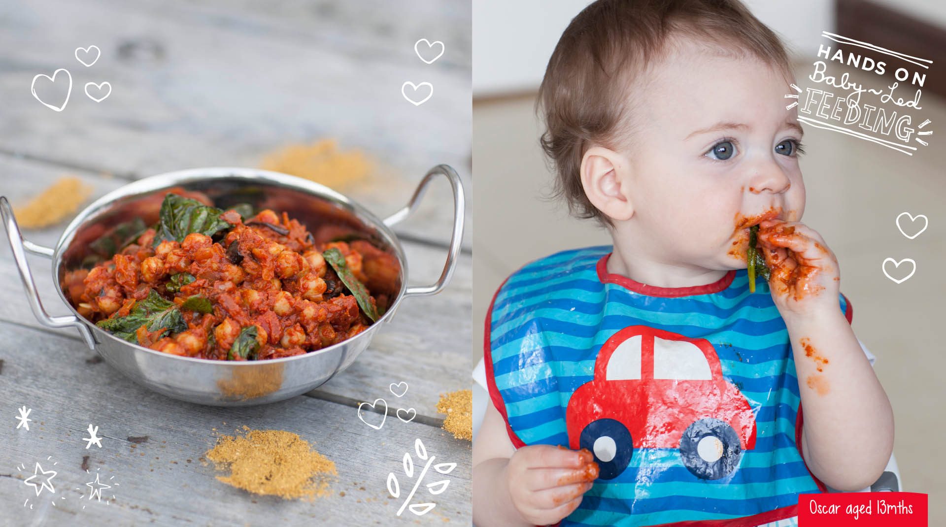 Baby Led Feeding Branding and website for new food startup Irish company Irish Food Blogger Design.