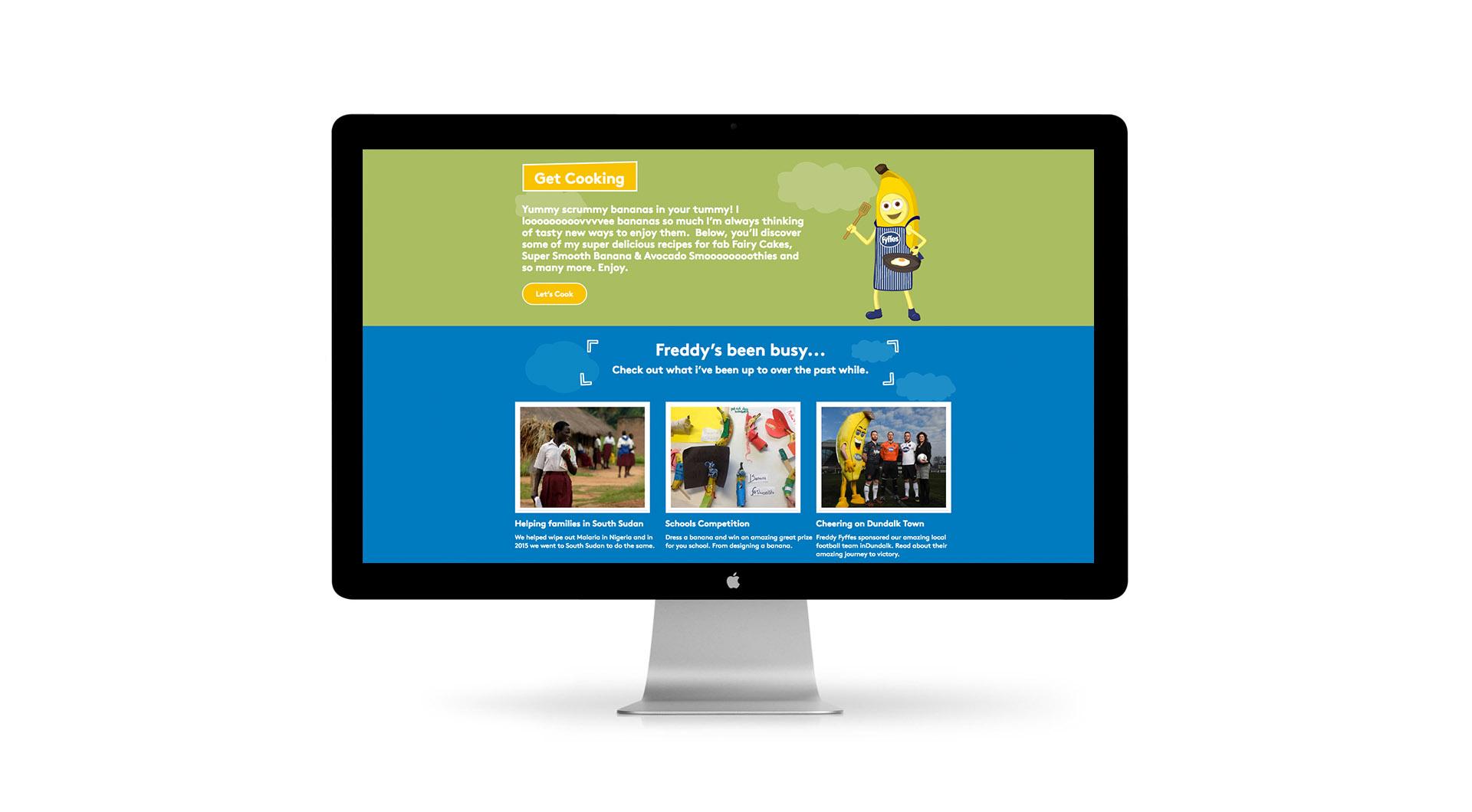 Freddy Fyffes Website Design Freddy Fyffes Website Homepage Design.