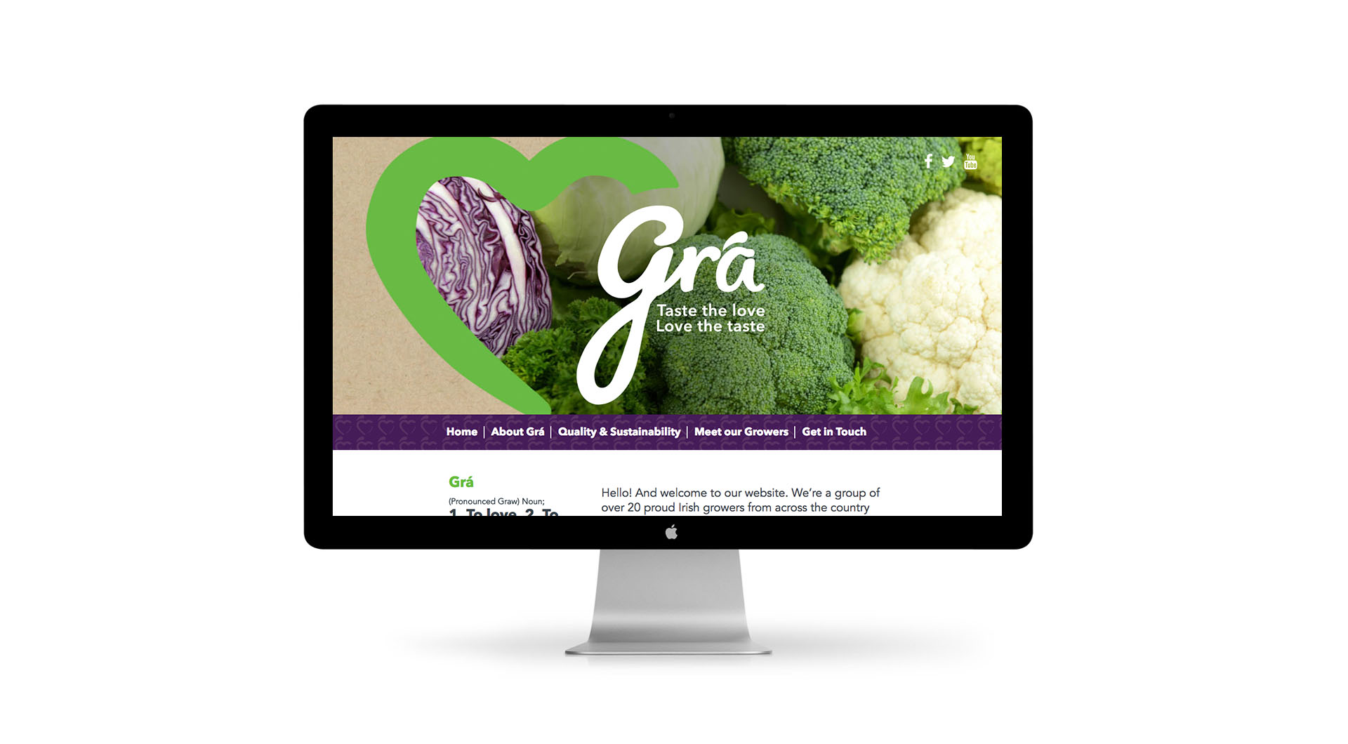 Gra Branding Design and UX Website Design.