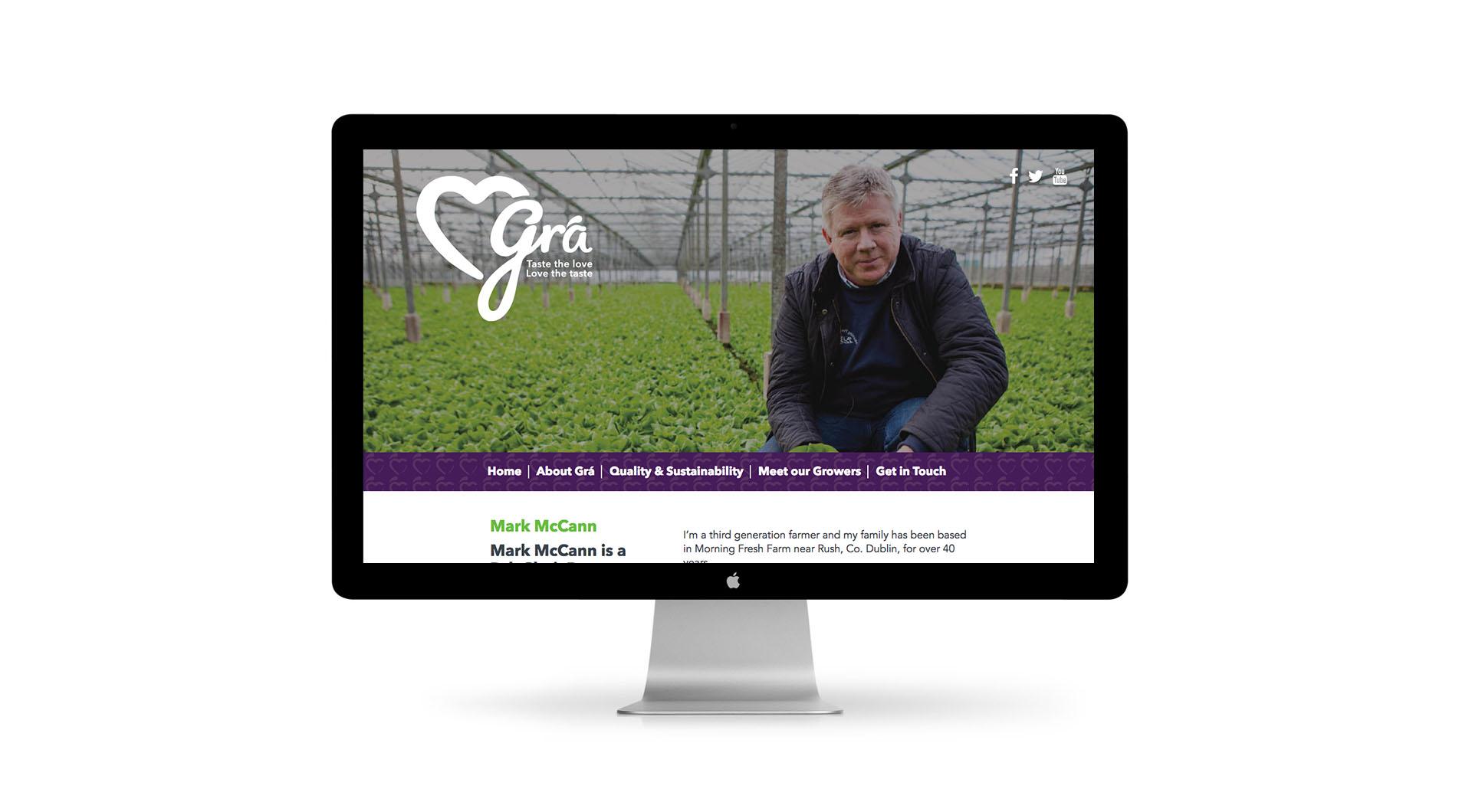 Gra Branding Design and UX Website Design Mark McCann.