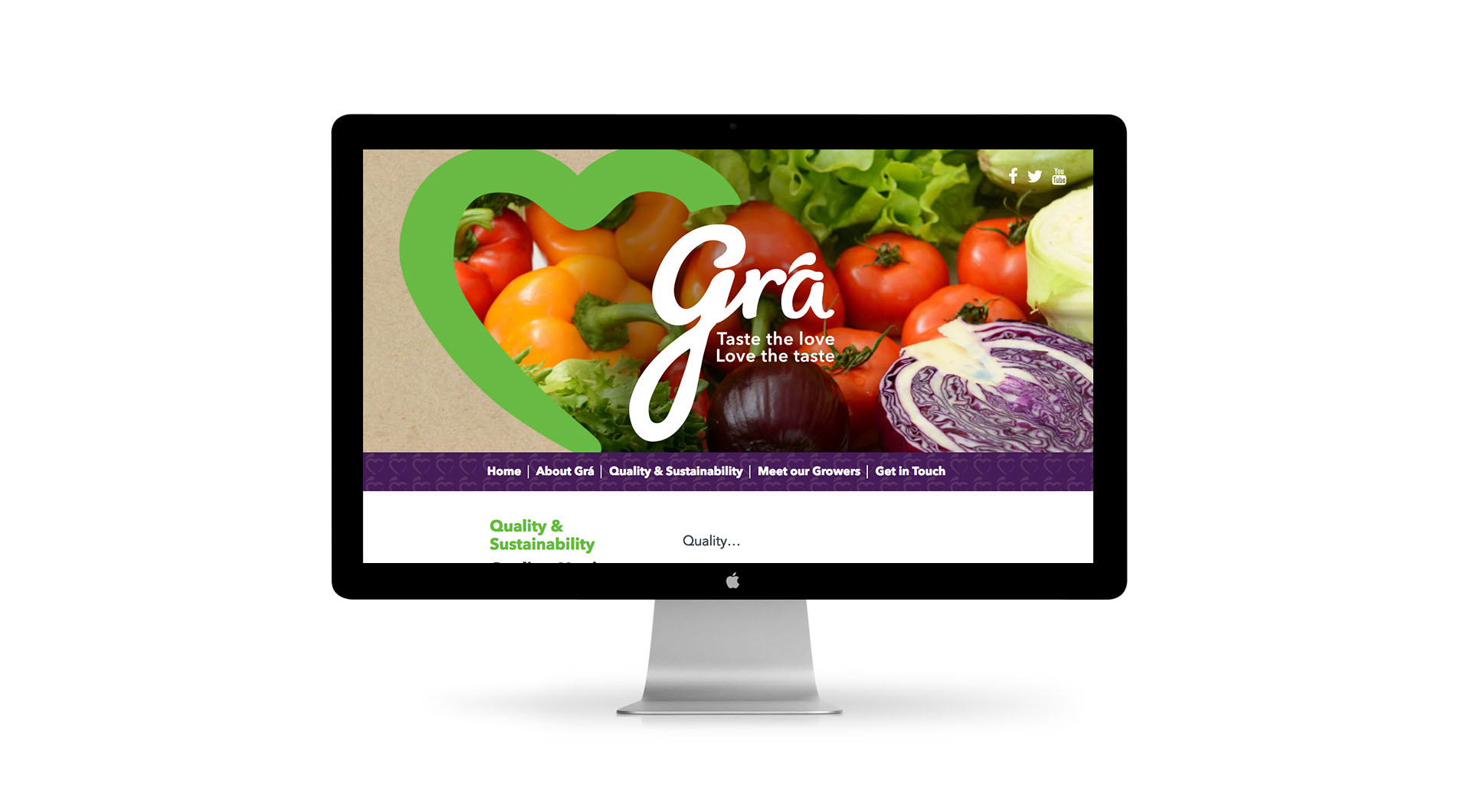 Gra Branding Design and UX Website Design Home Page.