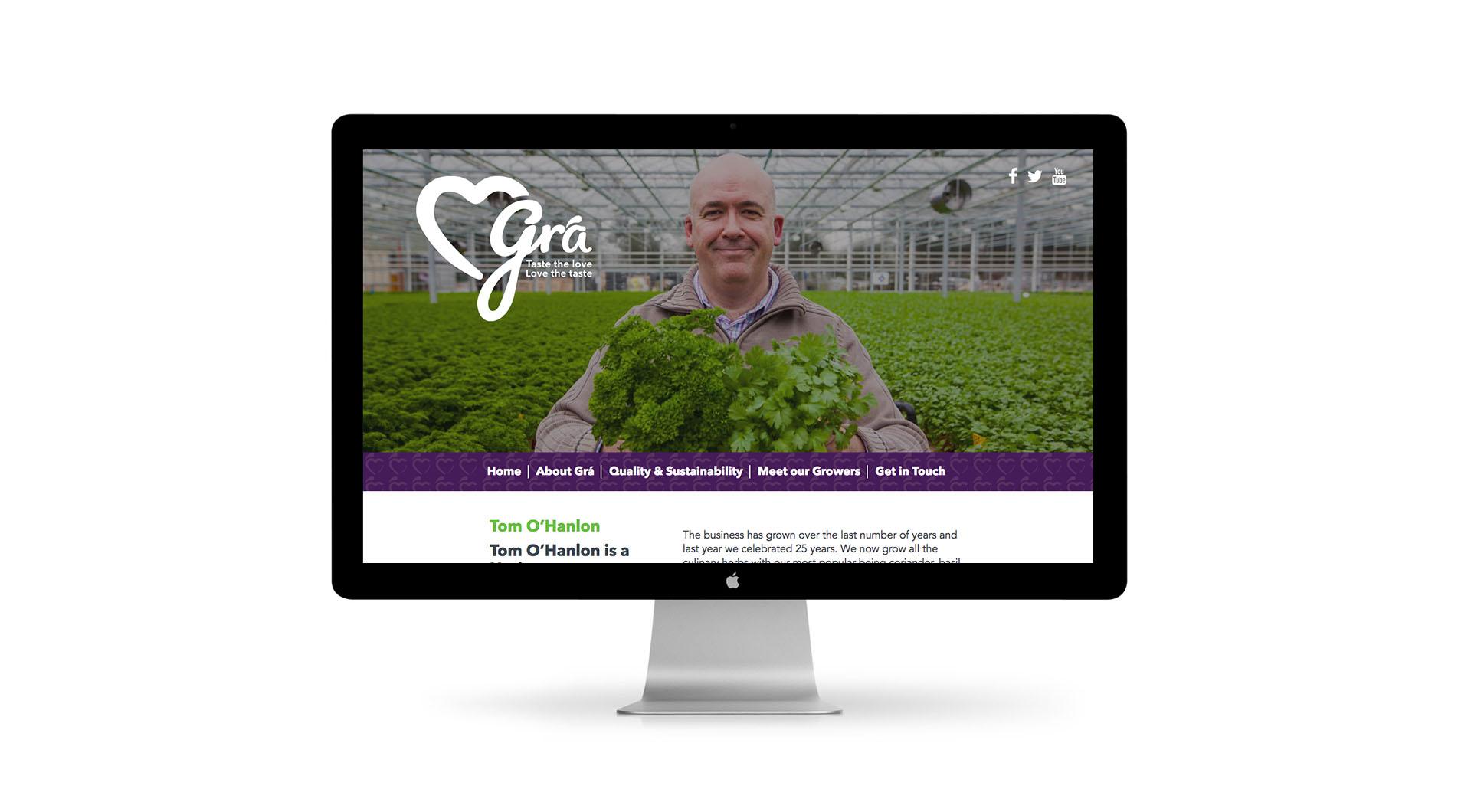 Gra Branding Design and UX Website Design Tom Hanlon.