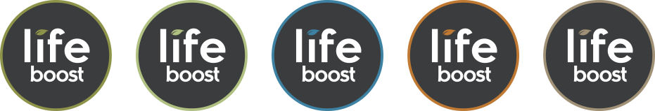 Lifeboost Vitamins Logo Variations