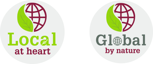 Total Produce Fruit Logistica Exhibition Stand Design Logo Design Local at Heart Global by Nature Individual Logos.