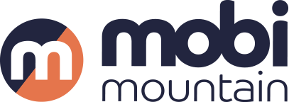 Mobi Mountain Navy Logo