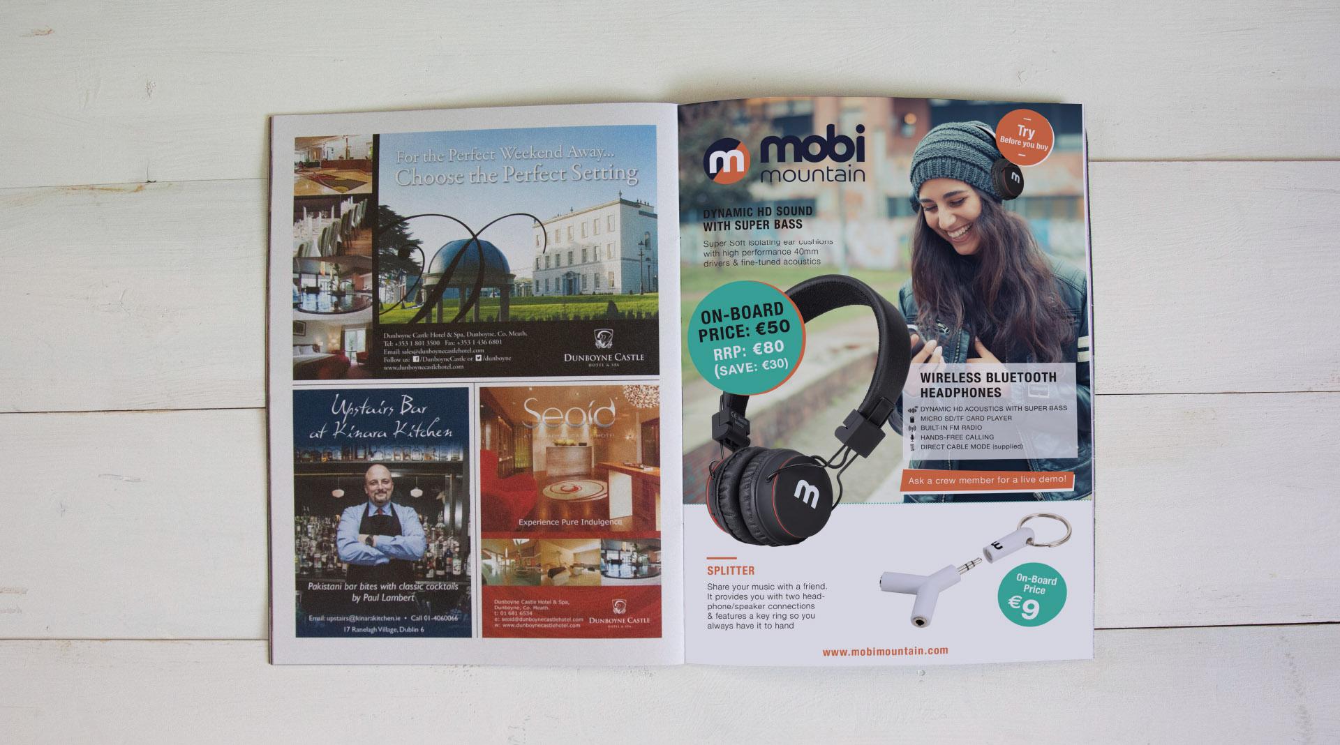 Mobi Mountain Magazine Advert design