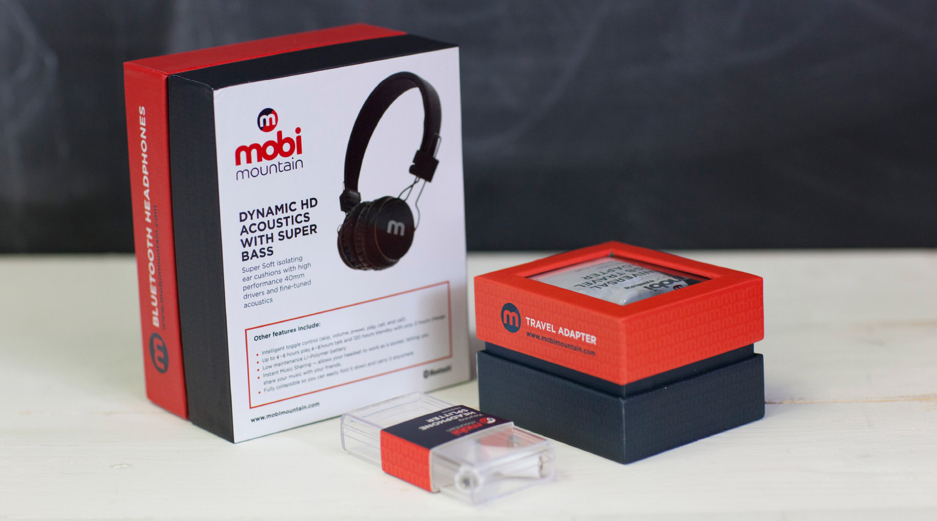 Mobi Mountain Headphones Product Shot
