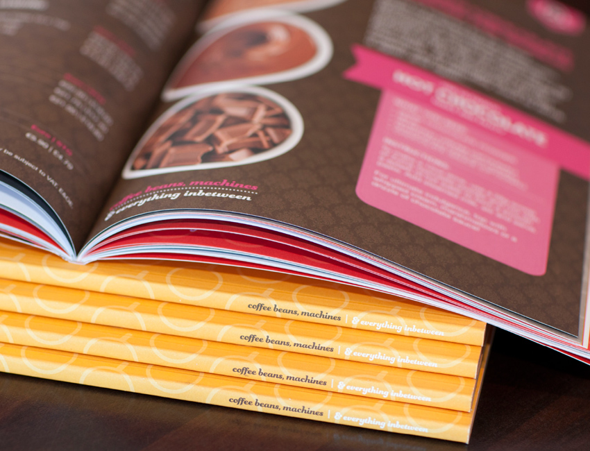 Pallas foods coffee book design spine detail.