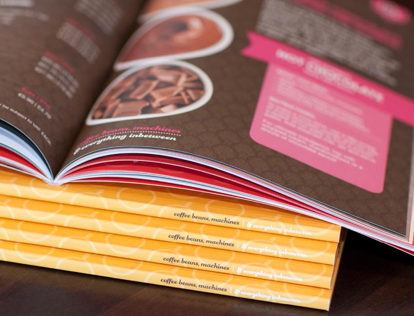 Pallas foods coffee book design spine detail.
