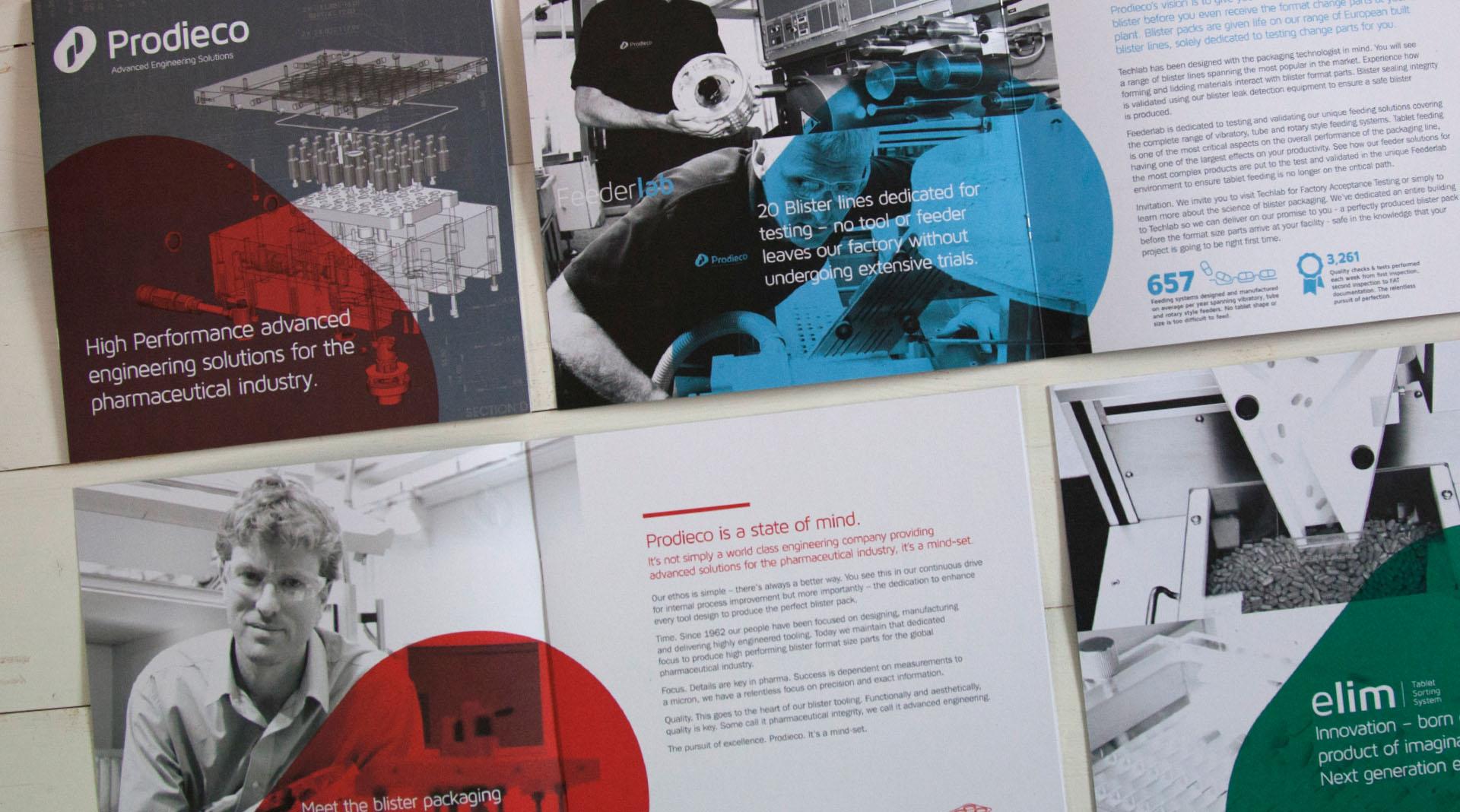 Prodieco Brochure design overview.