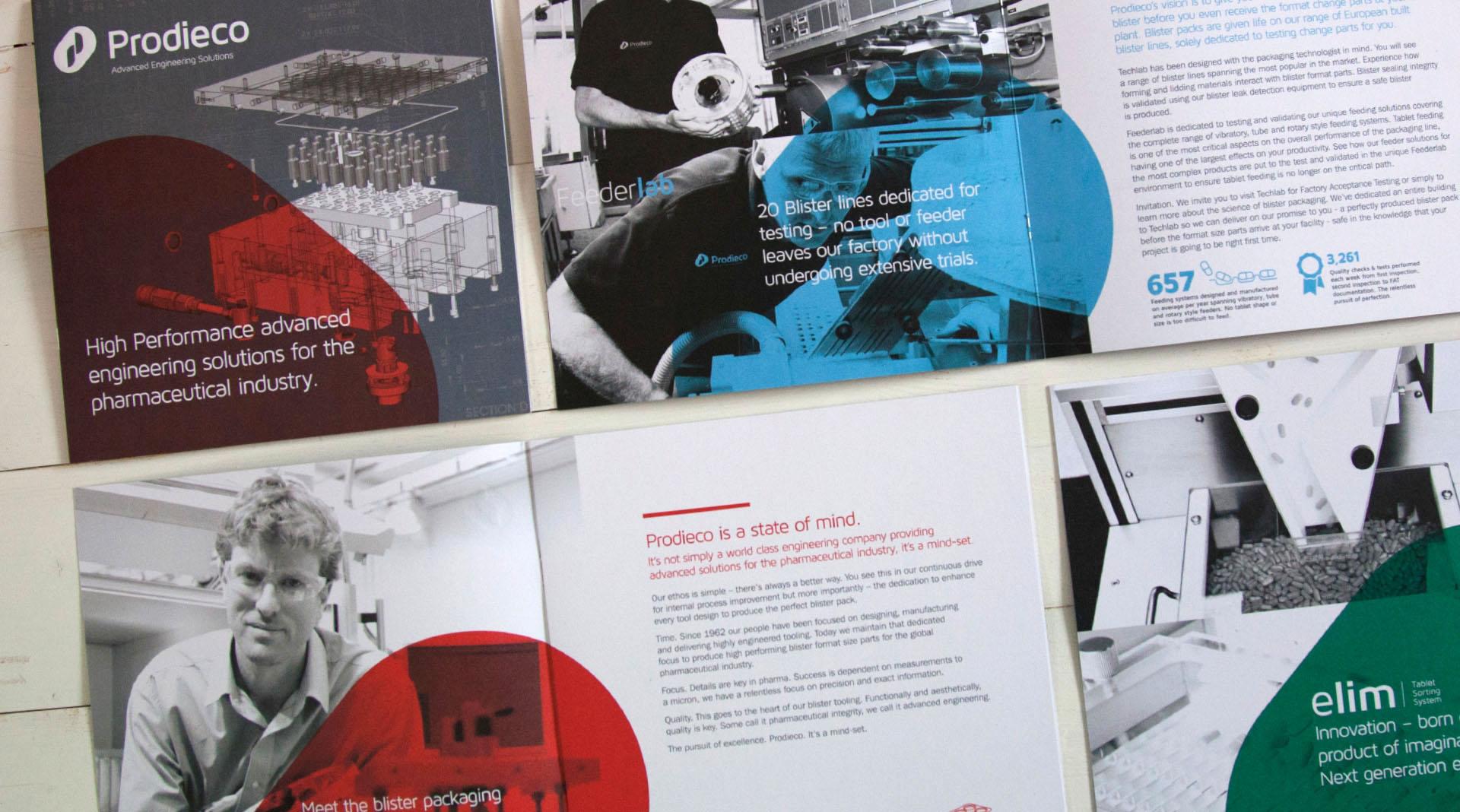 Prodieco Brochure design overview