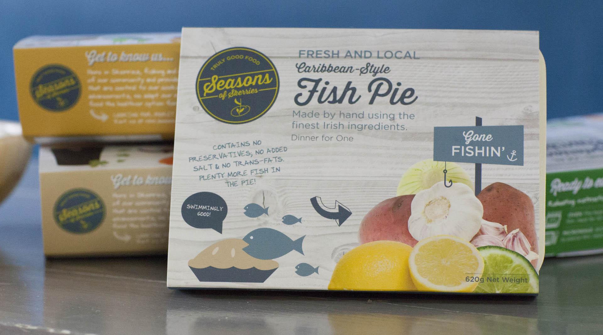 Seasons of Skerries food packaging design Dublin Food Packaging Design Ready Meals.