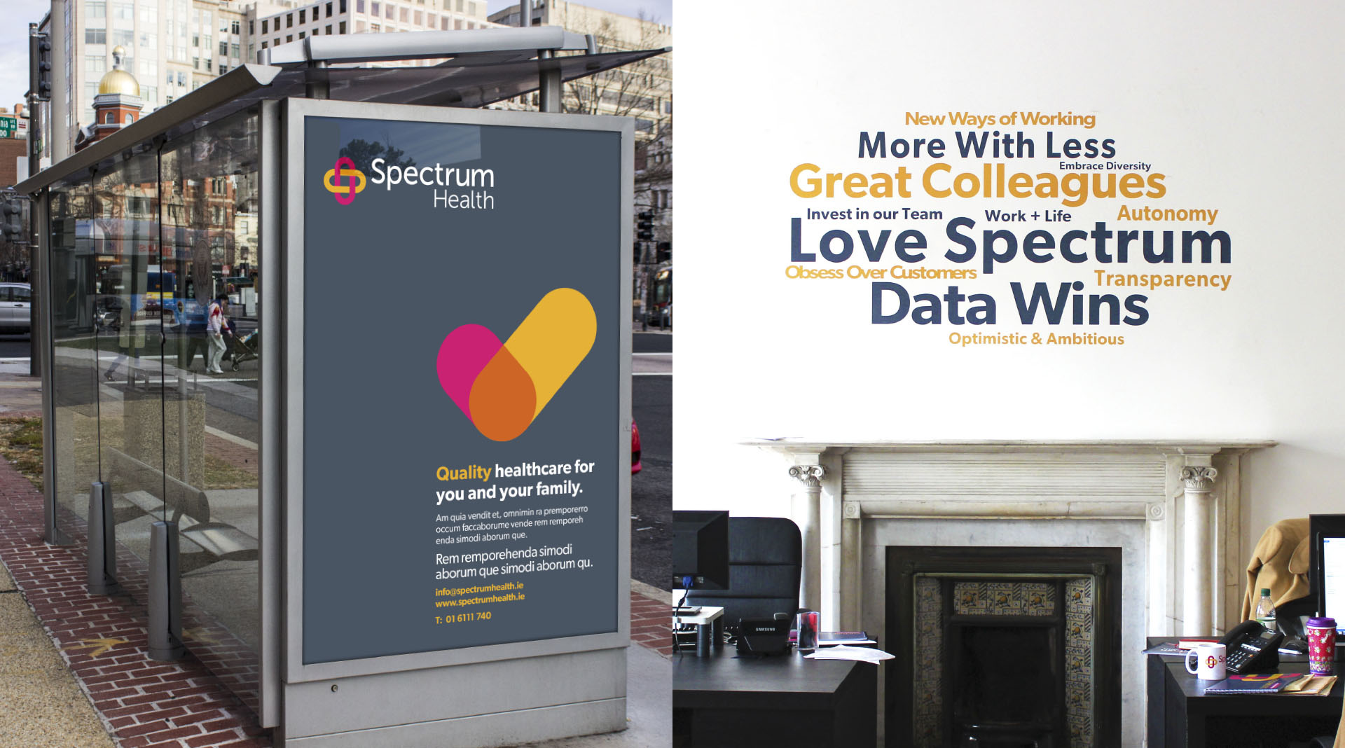 Spectrum Health Dublin Branding Design.