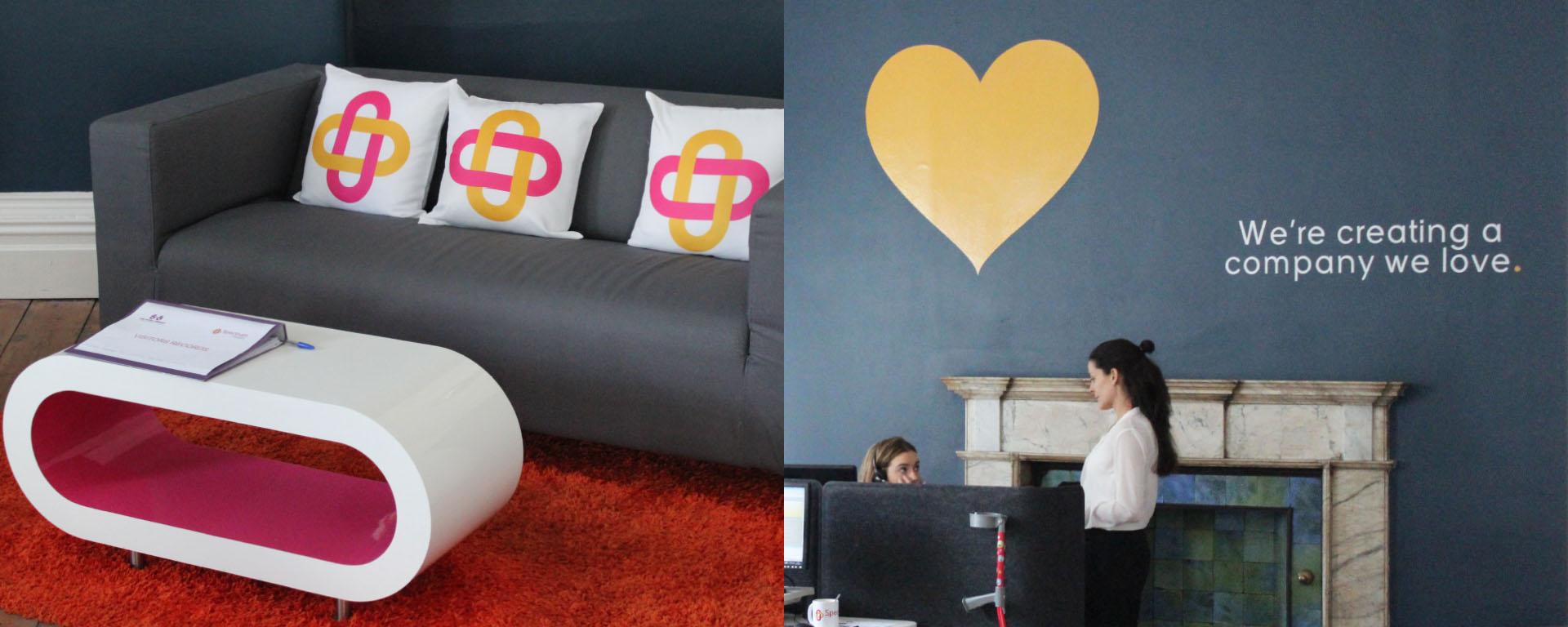Spectrum Health Dublin Branding Design. Brand integration.
