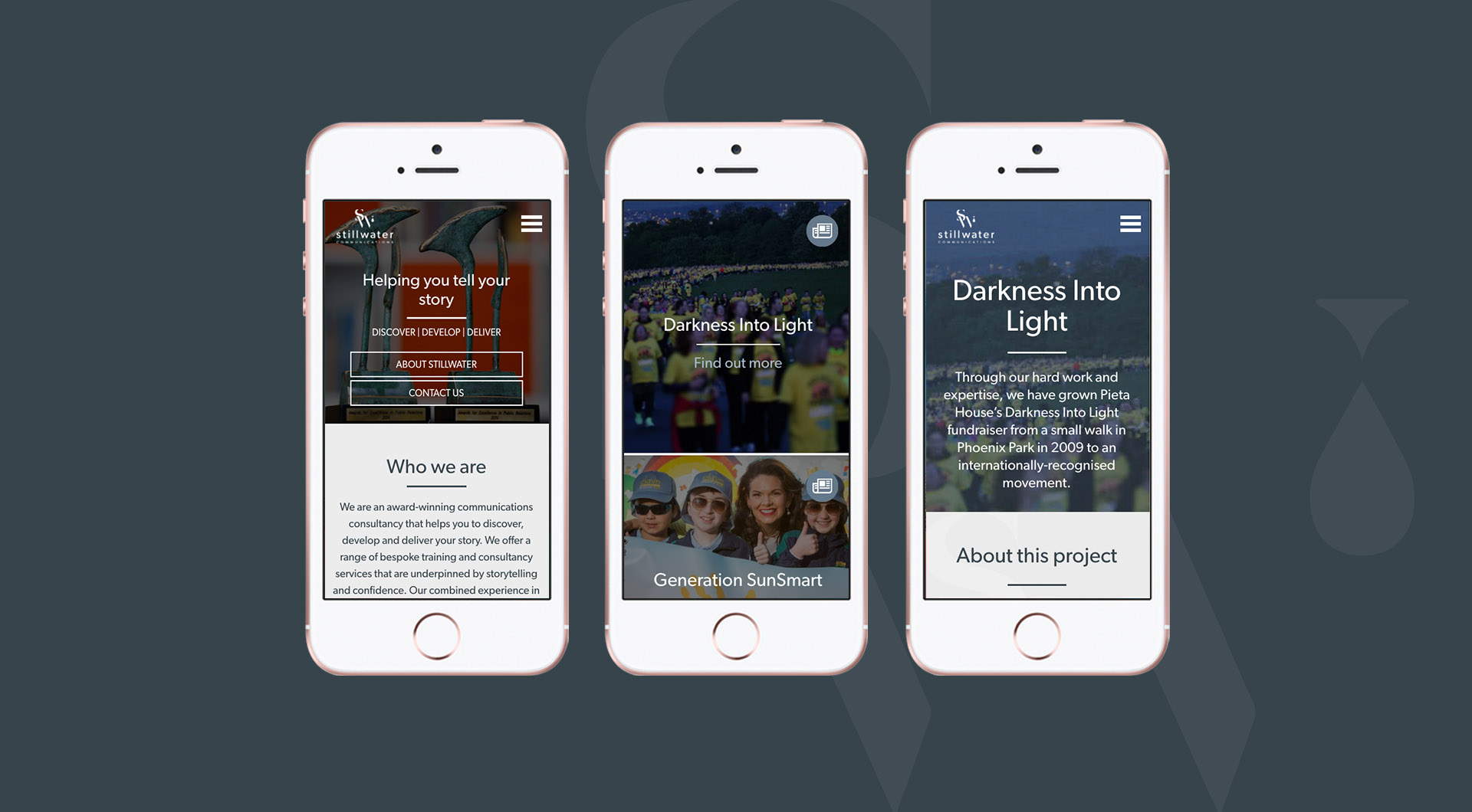 Stillwater Communications Mobile Website Design Layout.