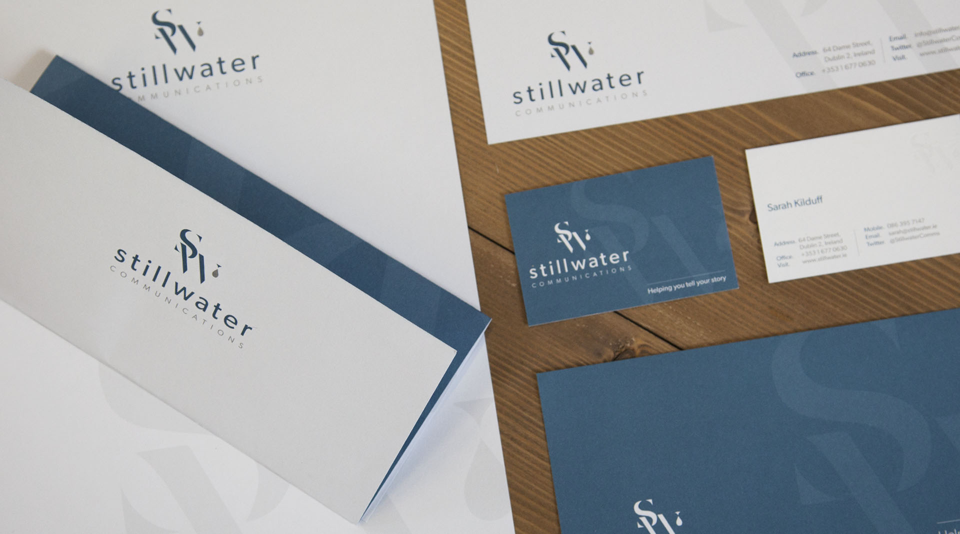 Stillwater Communications Corporate Stationary Design.