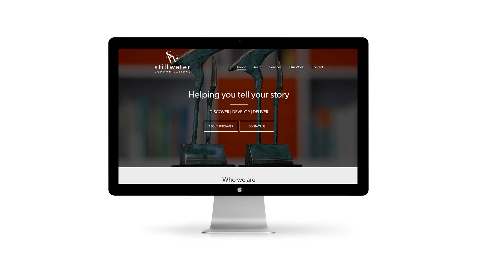 Stillwater Communications Website Design Home Page Layout.