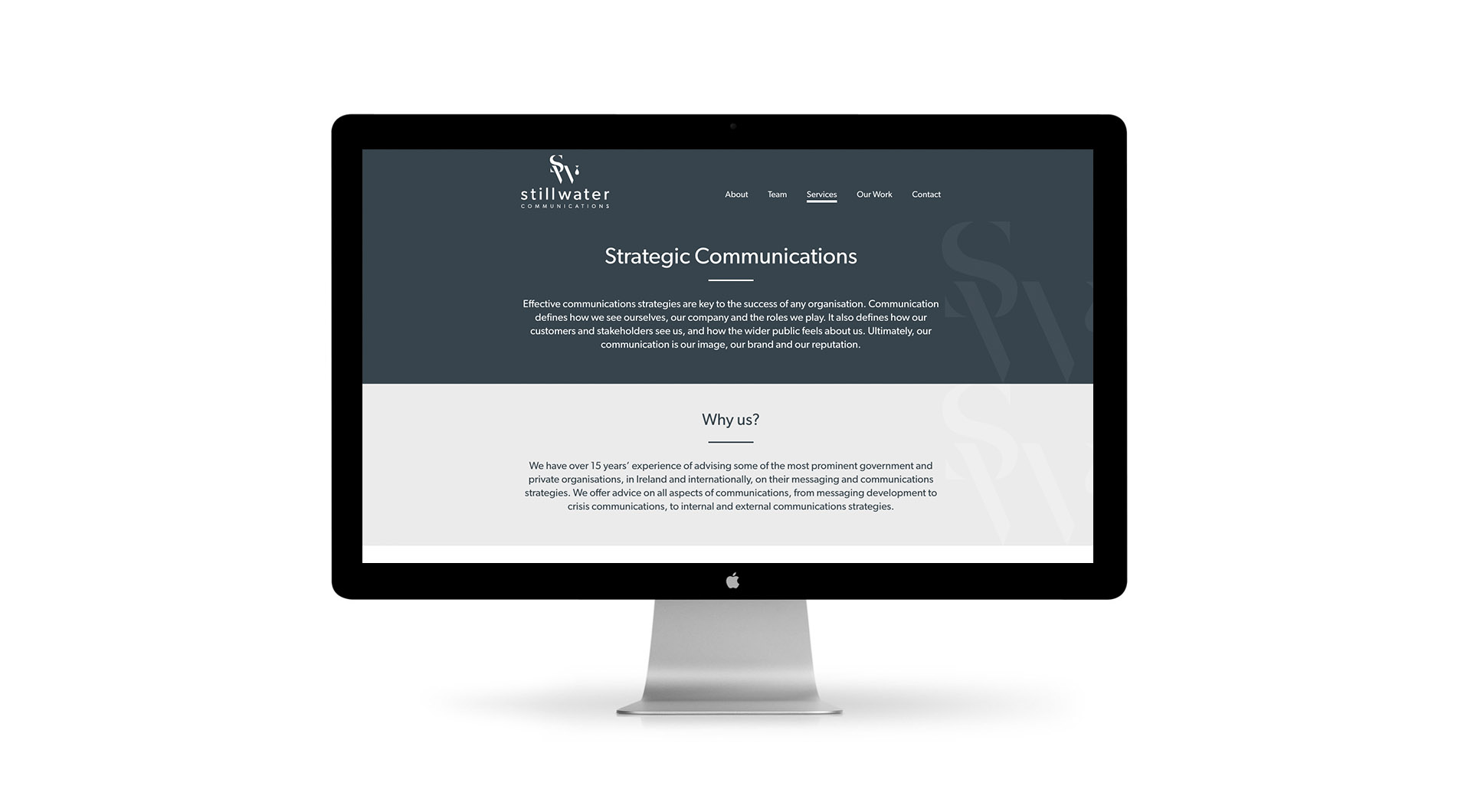 Stillwater Communications Website Design Services Layout.