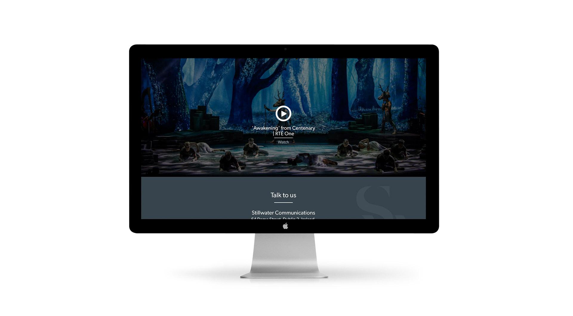 Stillwater Communications Website Design Video Layout.
