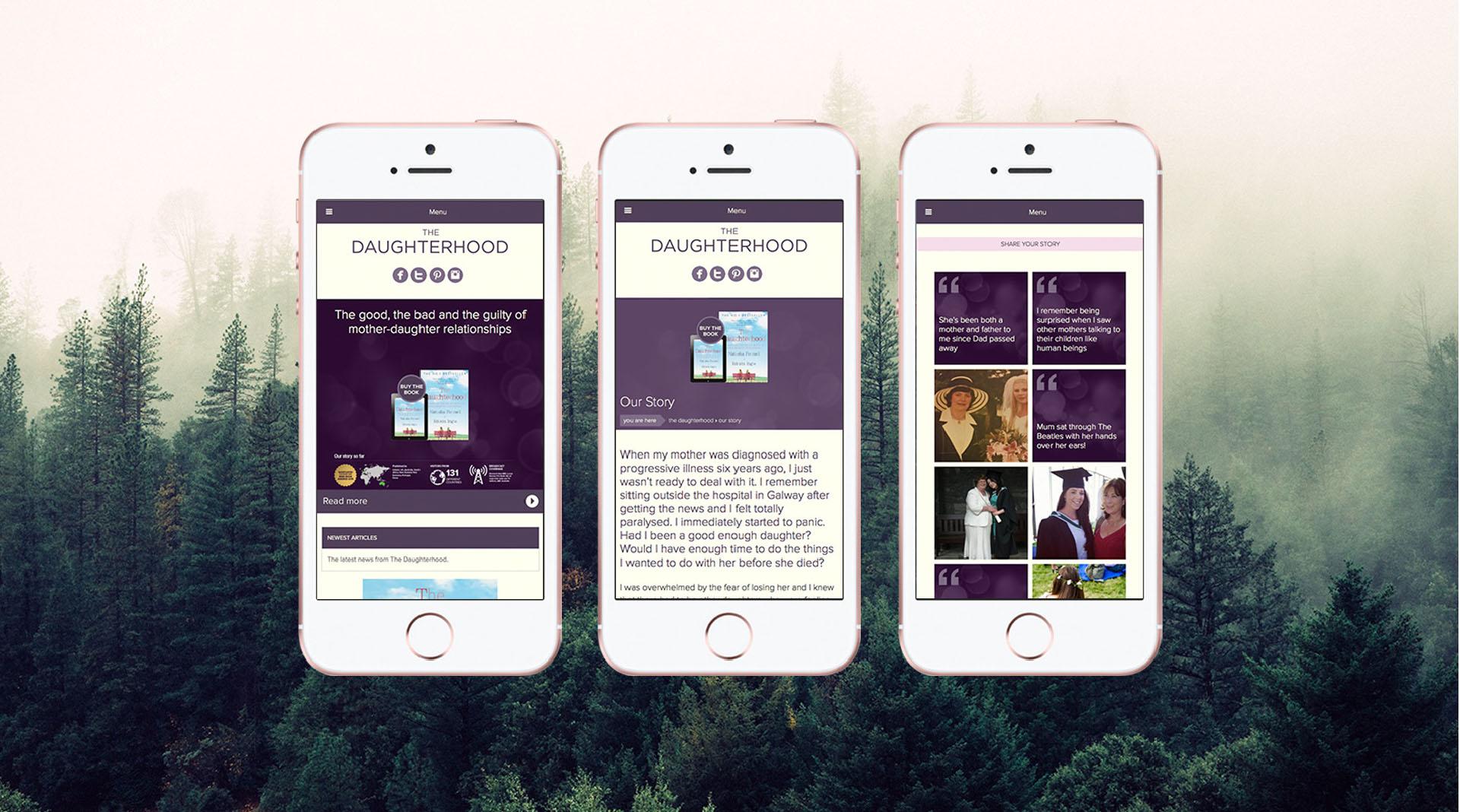 The Daughterhood Mobile Website Examples