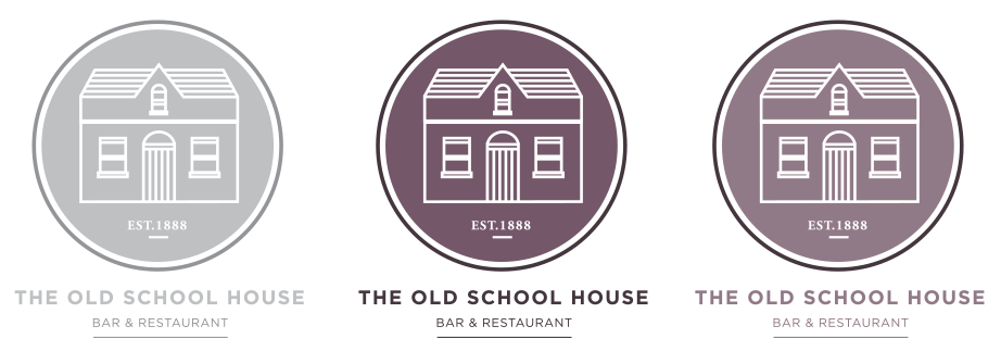 The Old Schoolhouse Logo Variations.