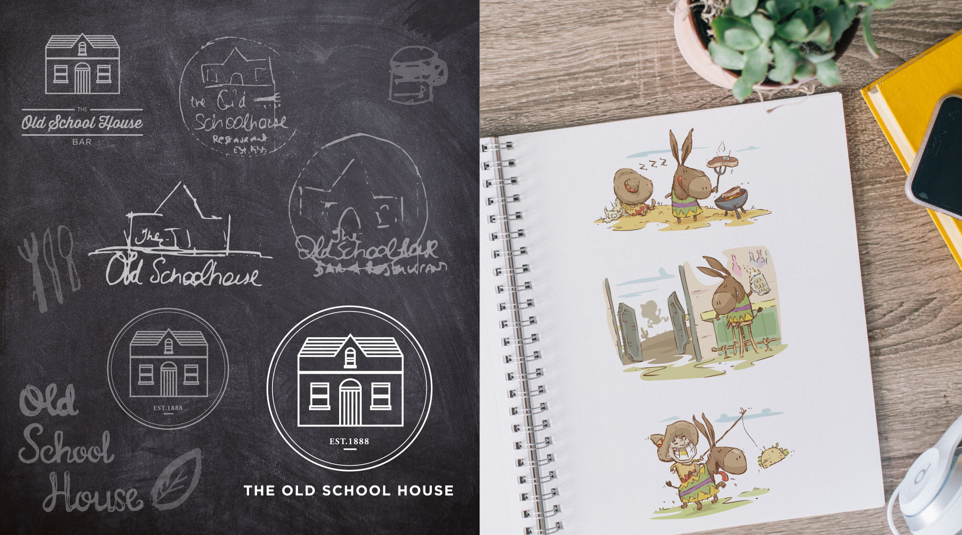 The Old Schoolhouse Brand Development.