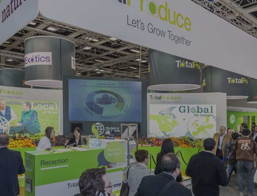 Total Produce Fruit Logistica Exhibition Stand Design Featured Image.
