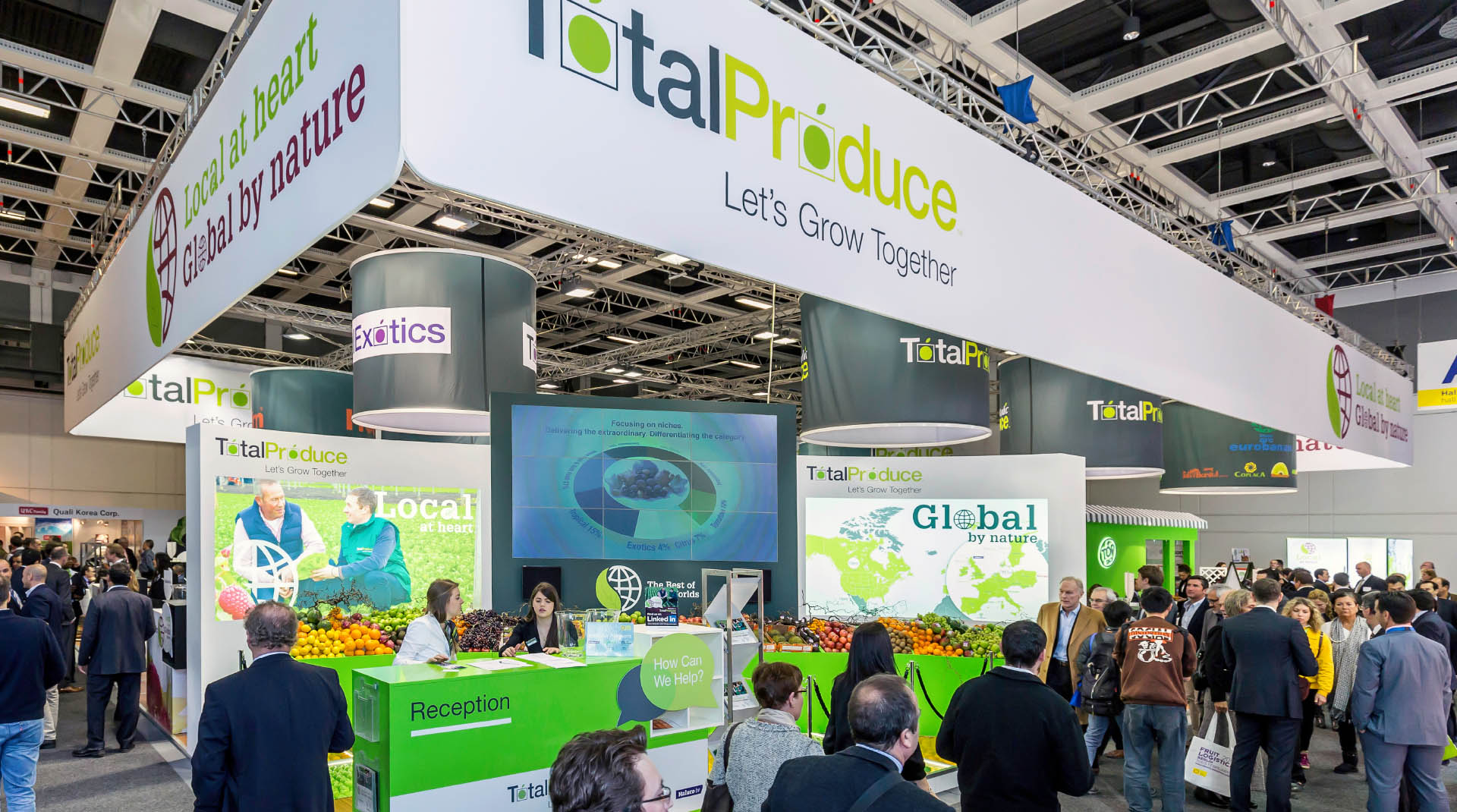 Total Produce Fruit Logistica Exhibition Stand Design.