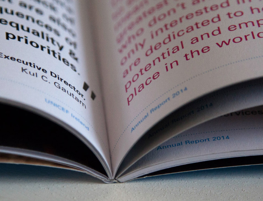 Unicef Annual Reports feature image book spine.
