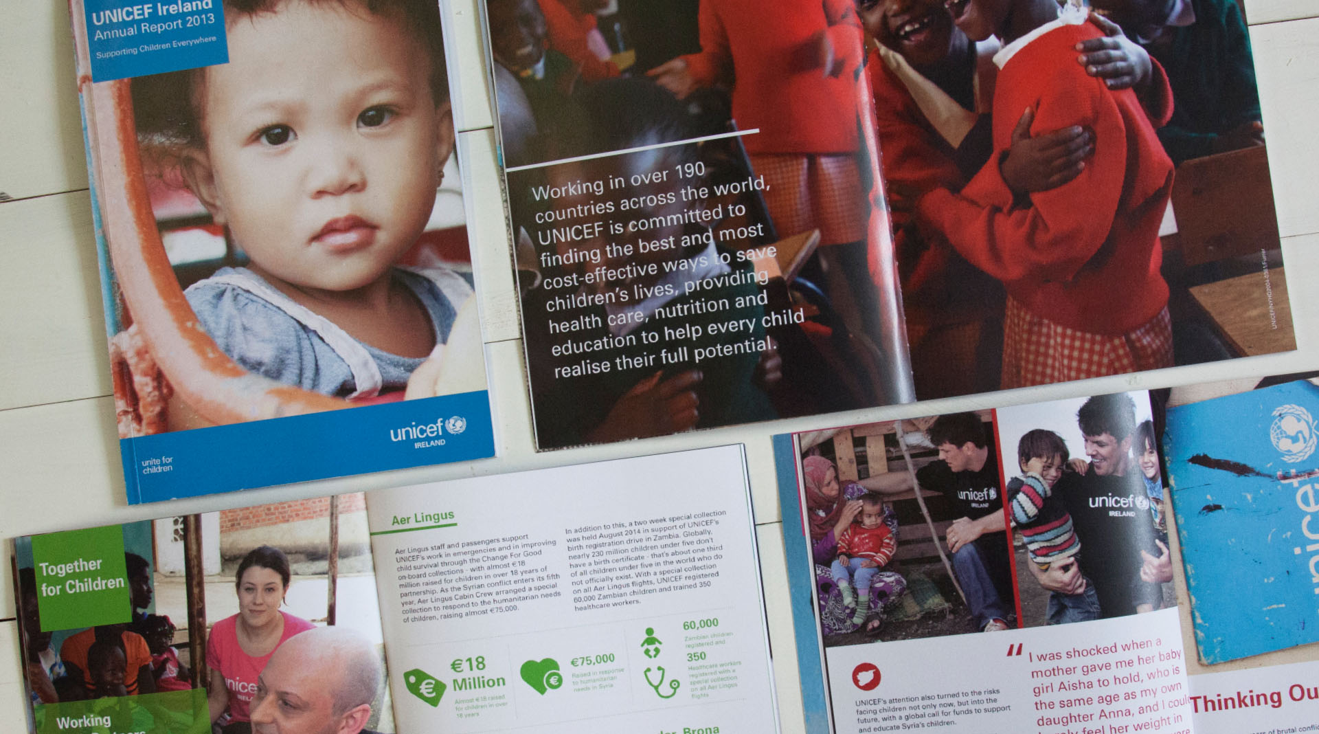 Unicef Annual Reports Spreads