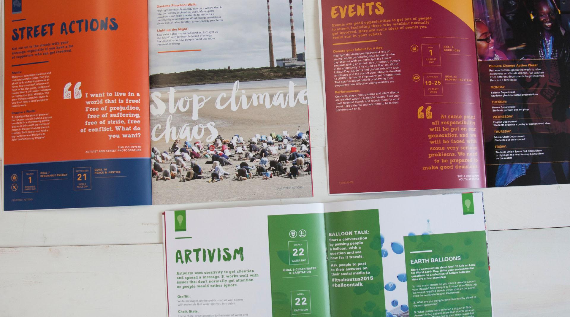 Unicef Global Goals Brochure Spreads.