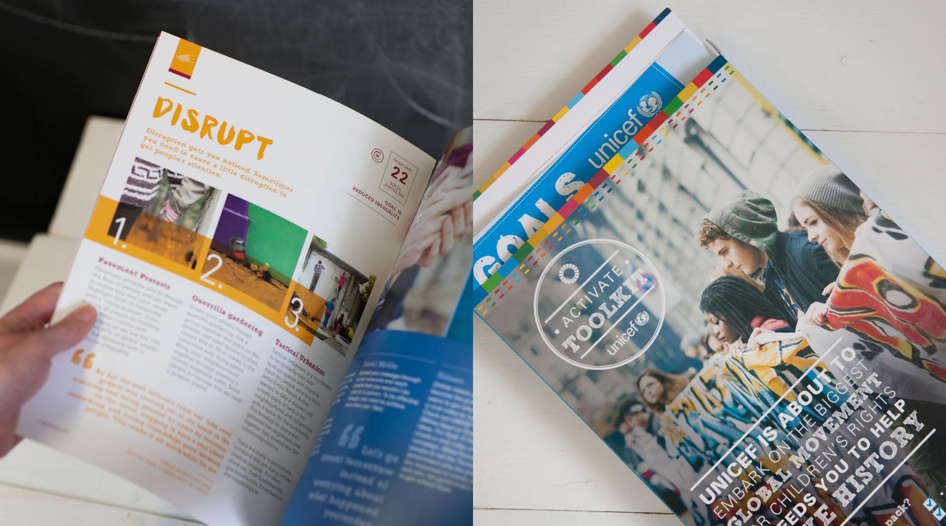 Unicef Global Goals Folder and Spread