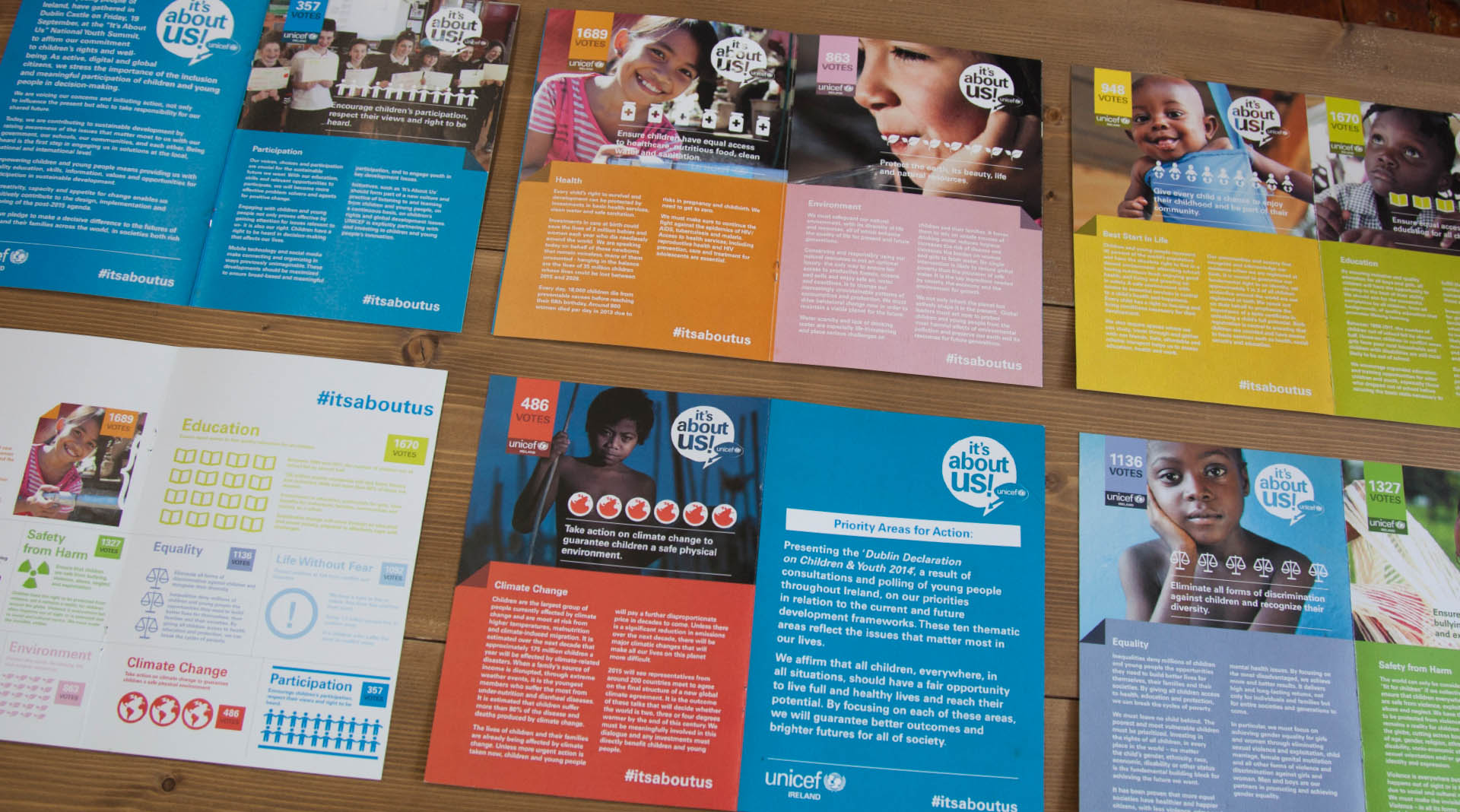 Unicef Its About Us brochure