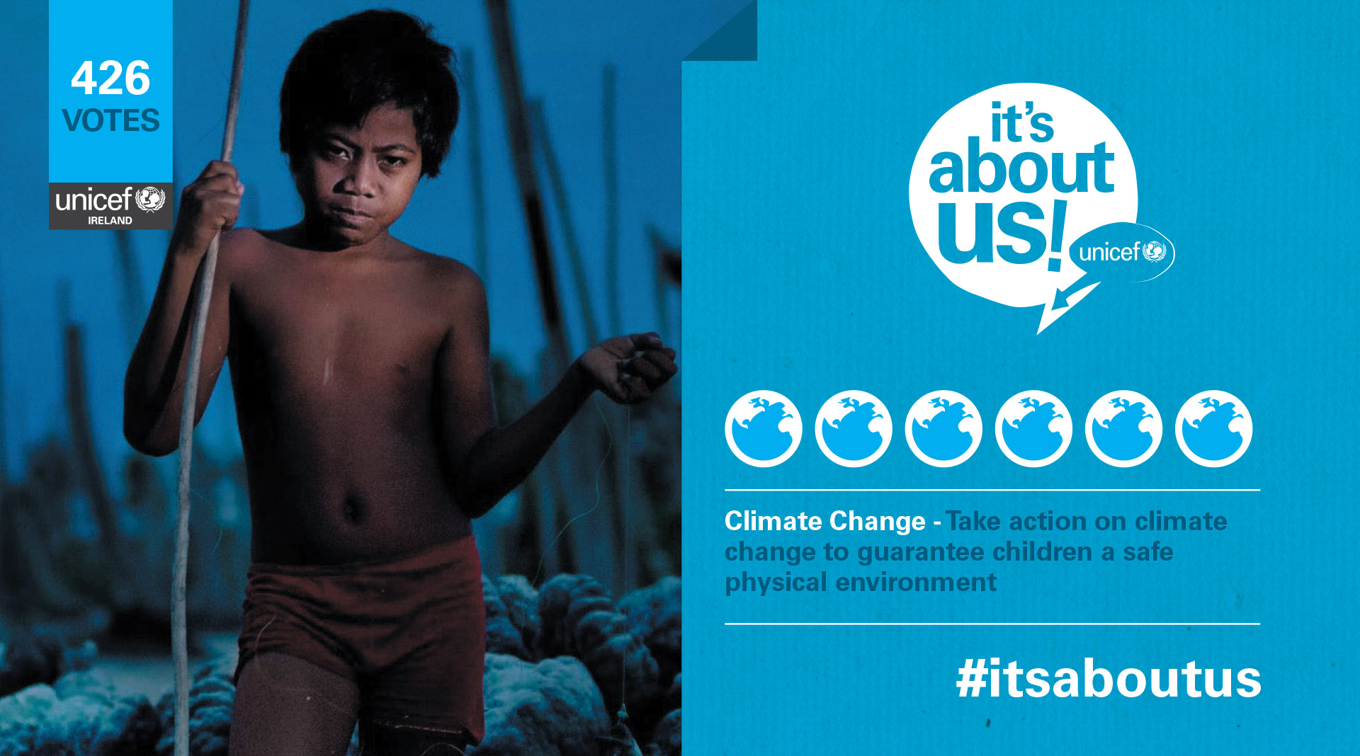 Unicef Its About Us Social Media Elements.