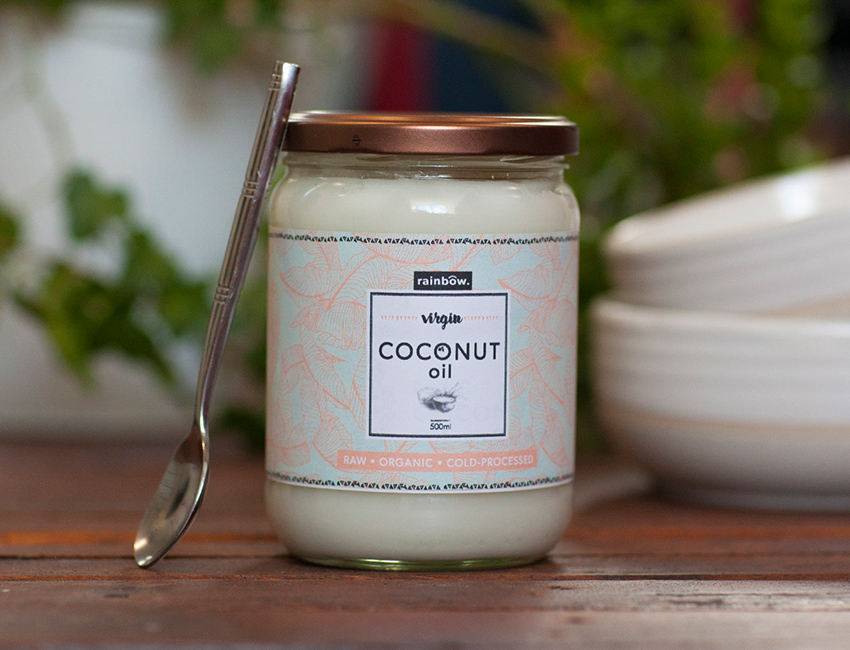Coconut Oil packaging design.