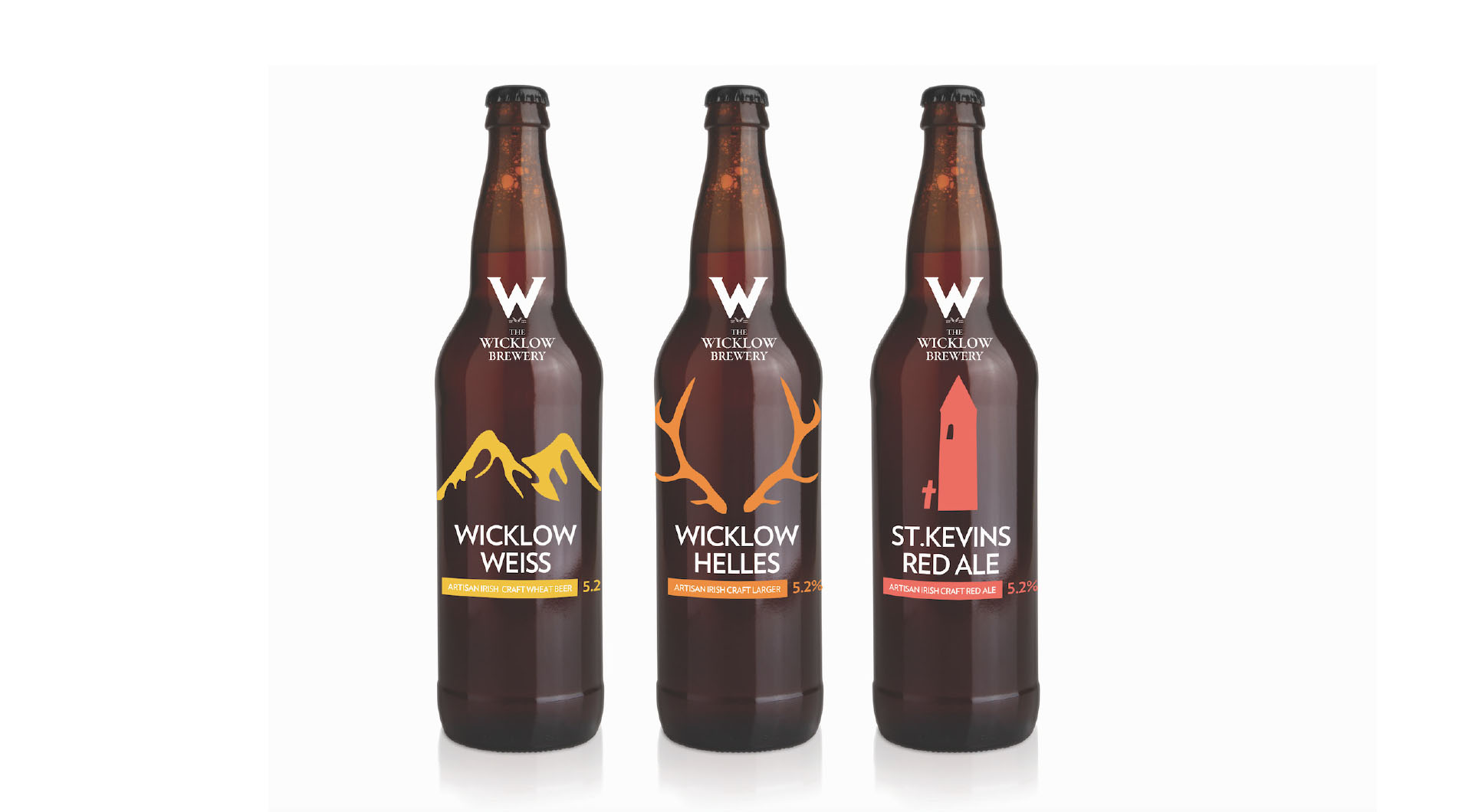 Wicklow Brewery Beer bottle design, beer packaging design, bottle designs.