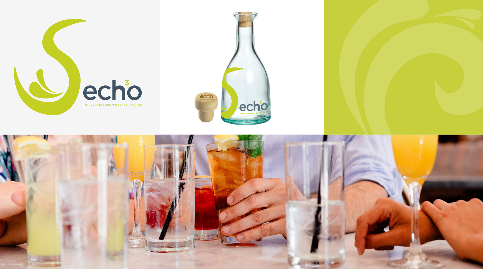 Echo Water branding and bottle design