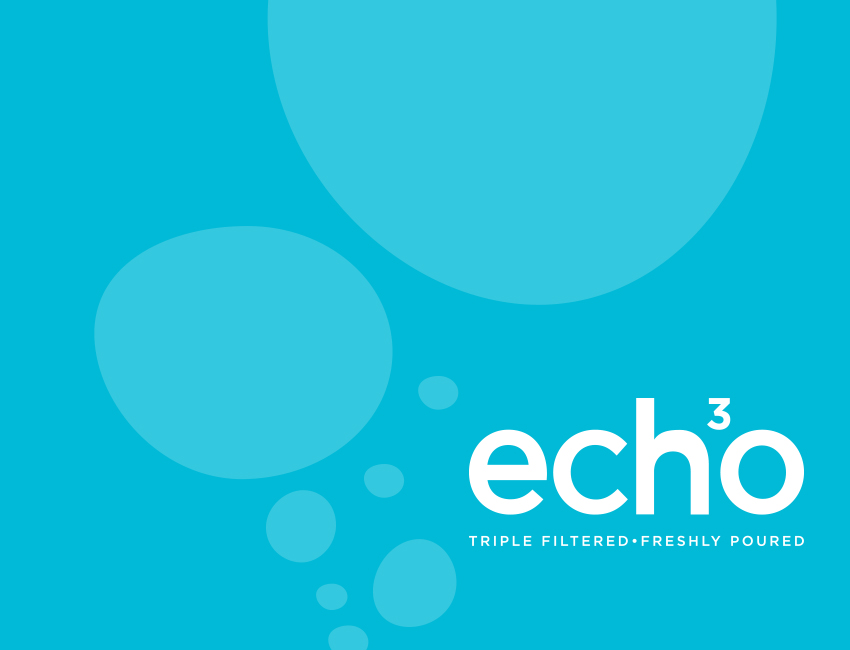 Echo water branding and bottle design