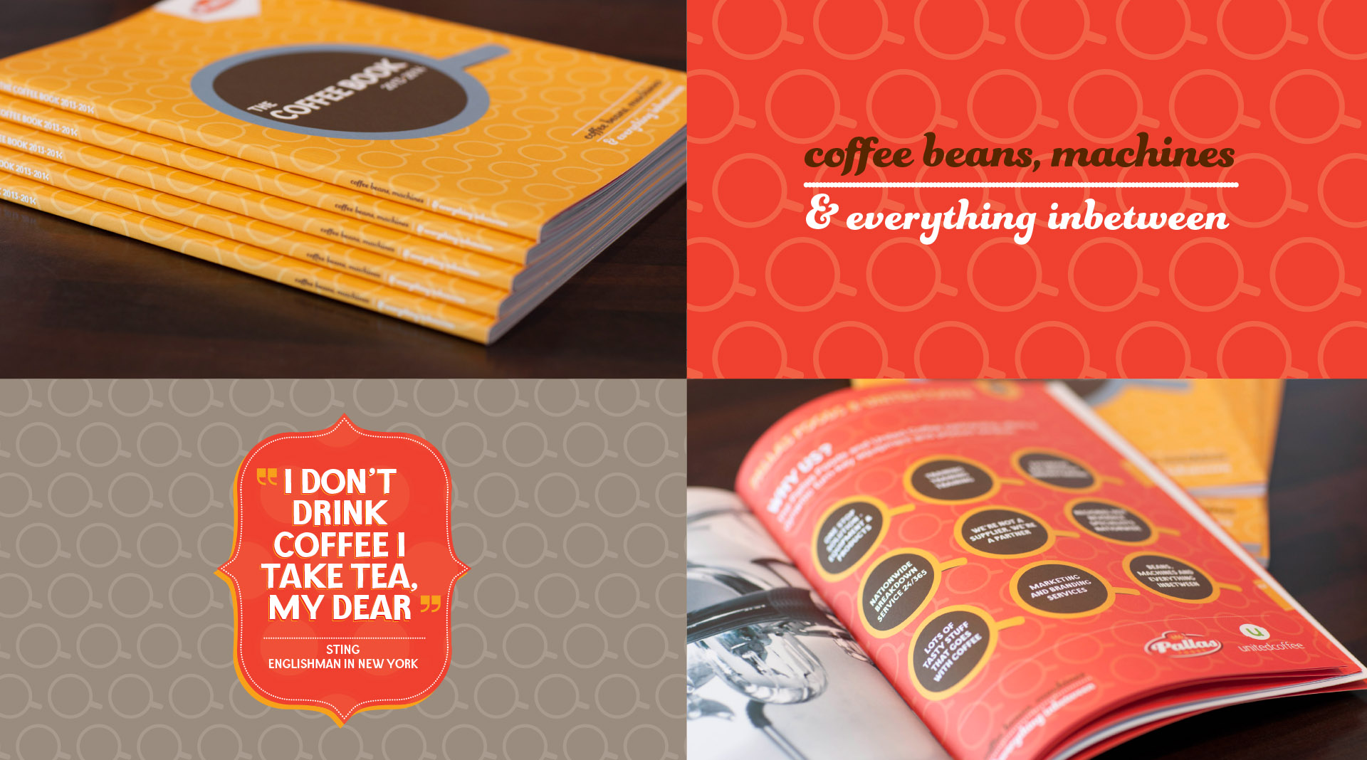 Pallas foods coffee book design graphic elements