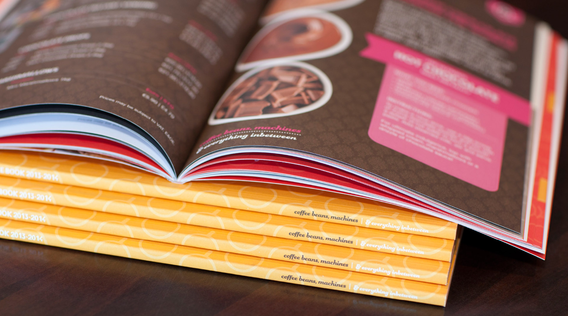 Pallas foods coffee book design spine detail