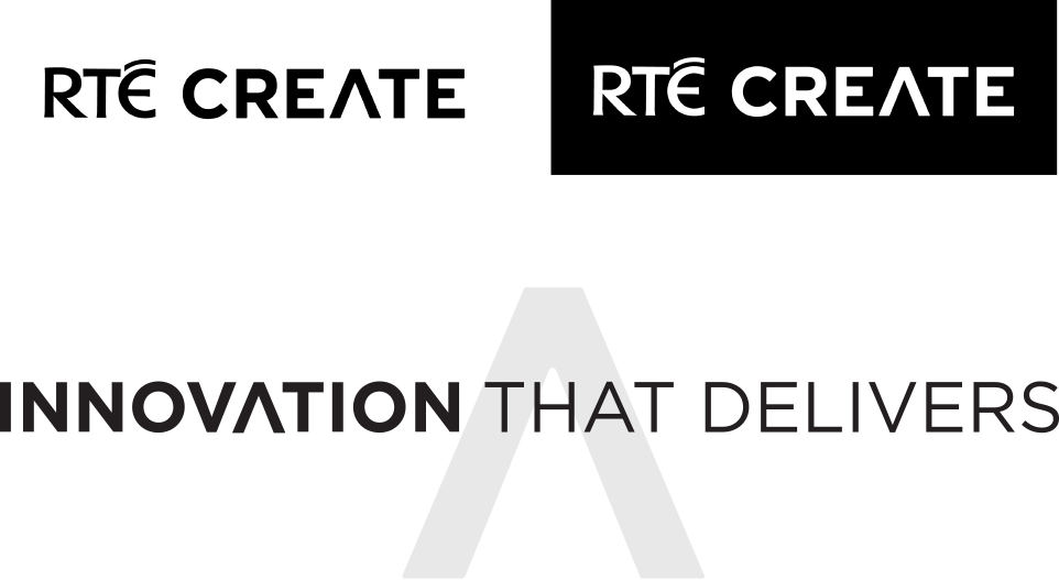 RTÉ Create Logo & Tagline.