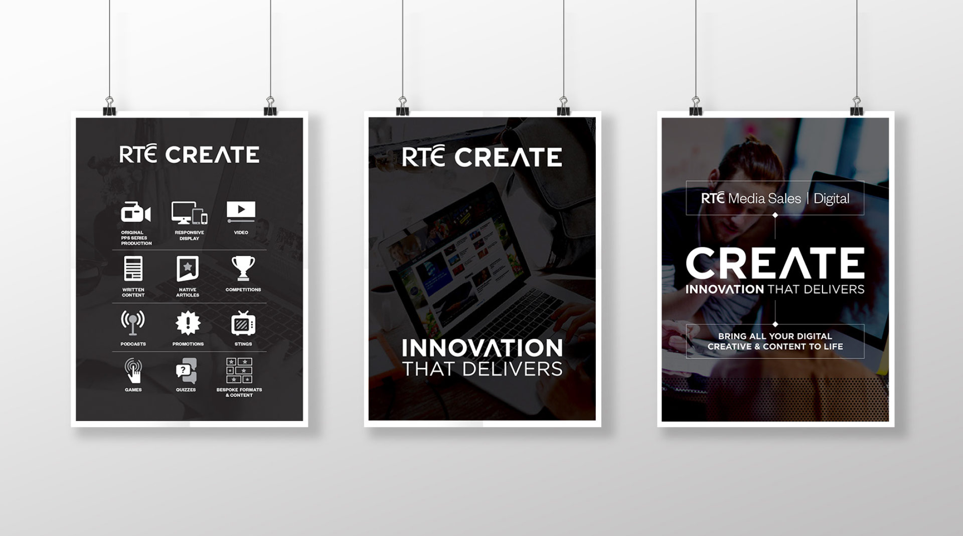 RTÉ Create Iconography & Poster Design.