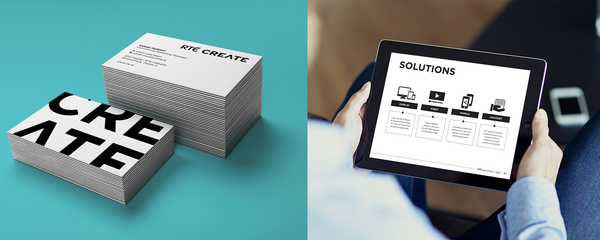 RTÉ Create Business Cards & Presentation Design.