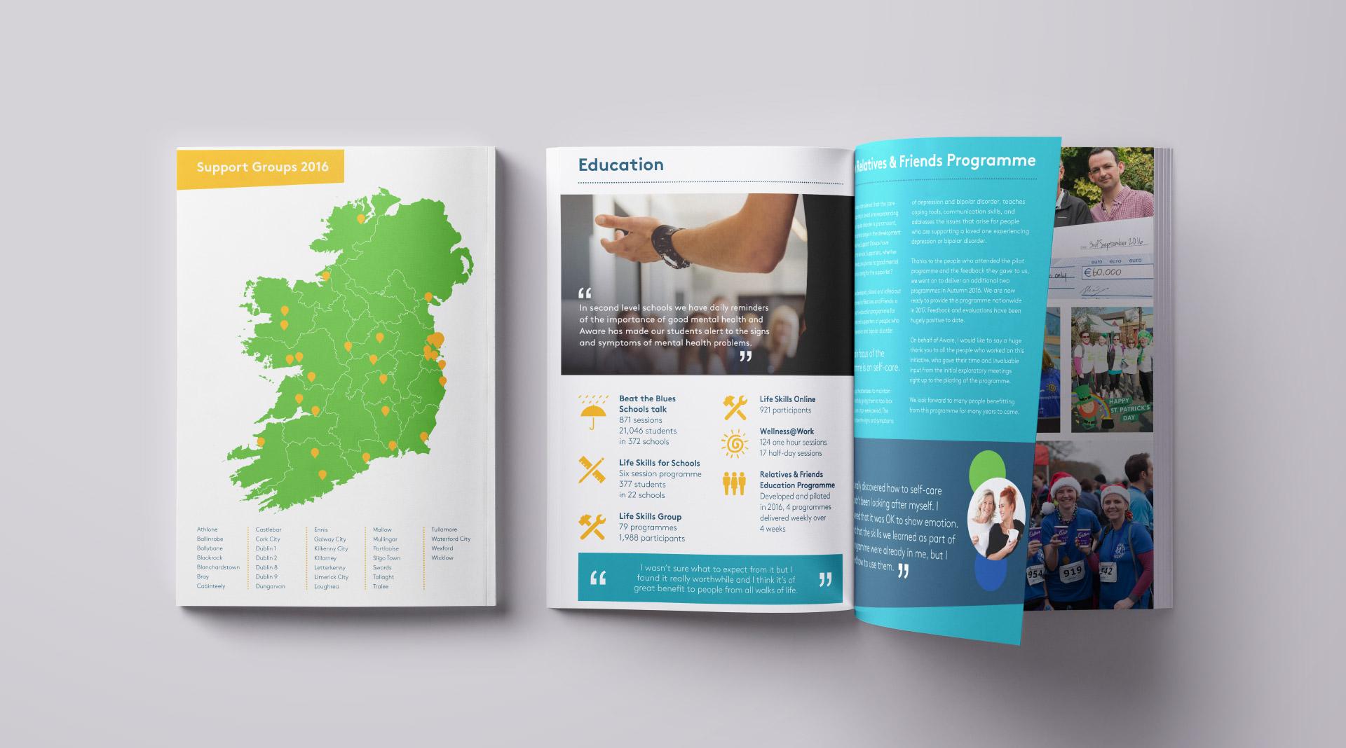 Design of Aware annual report 2017.