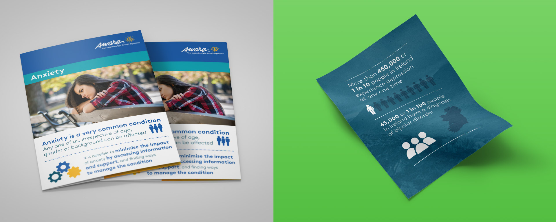 Aware leaflets and infographic designs.