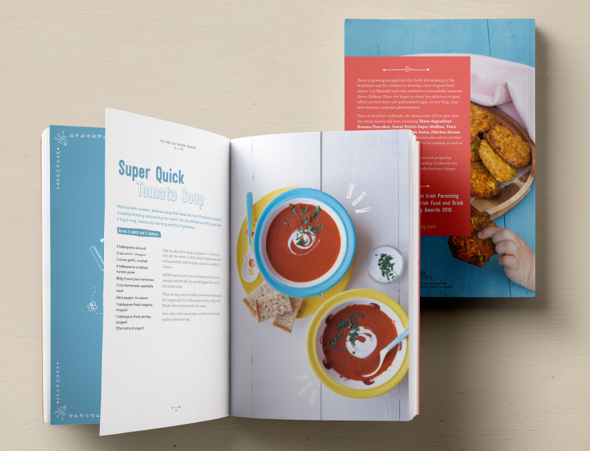 Baby led feeding cookbook spreads