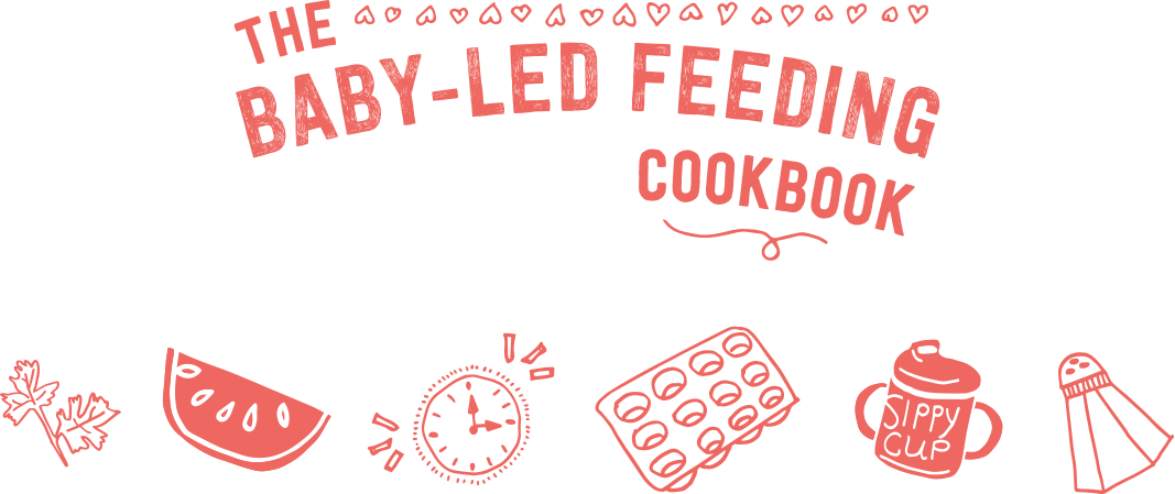 Baby led feeding typography and illustrations