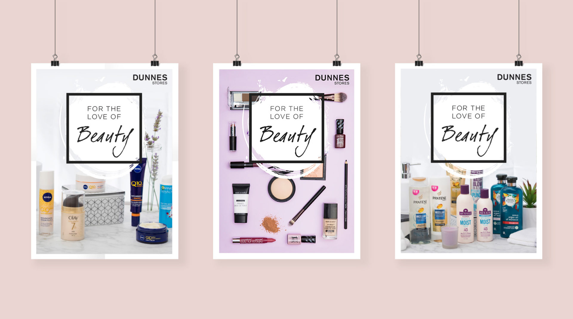 Poster design for instore Beauty event.