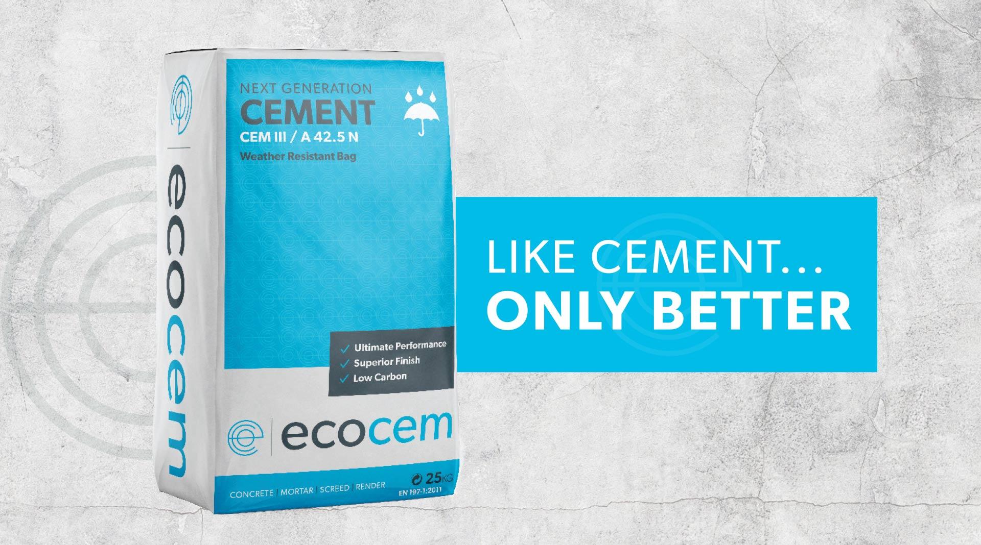 Ecocem Ireland cement bag packaging design