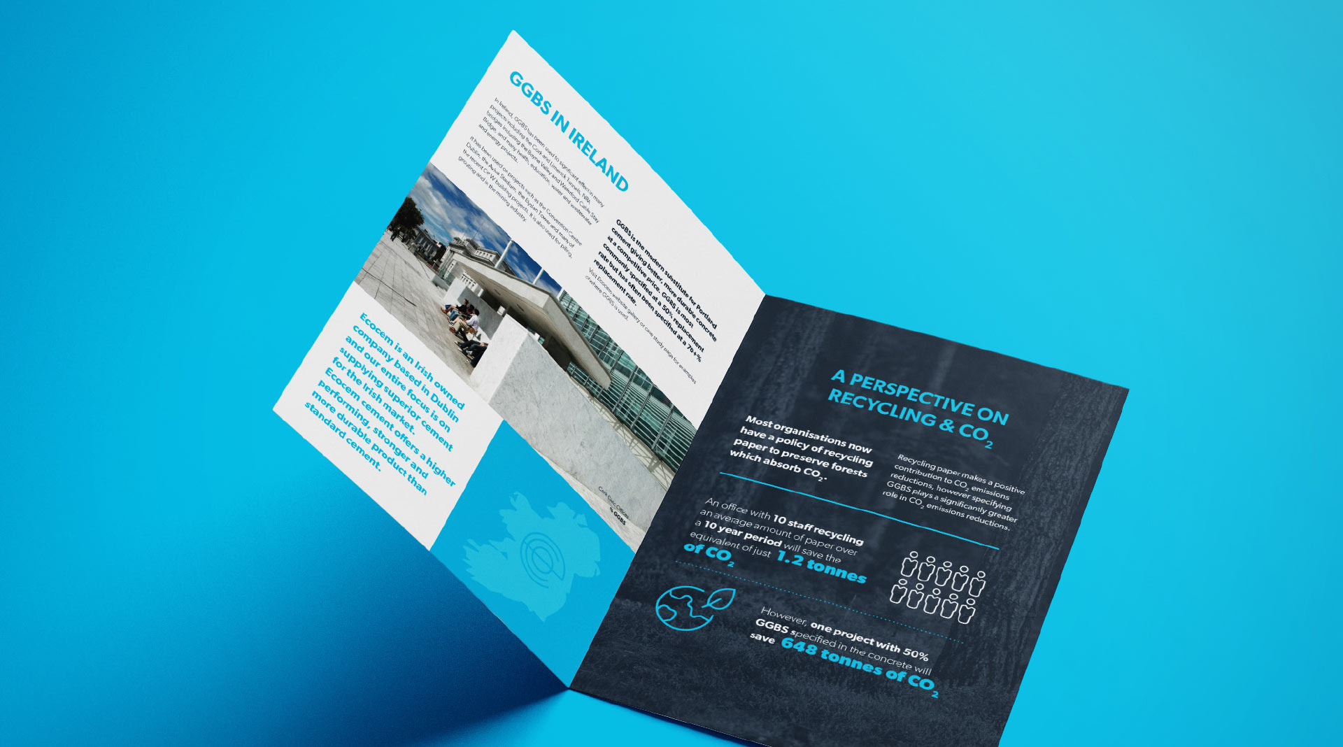 Ecocem Ireland brochure design